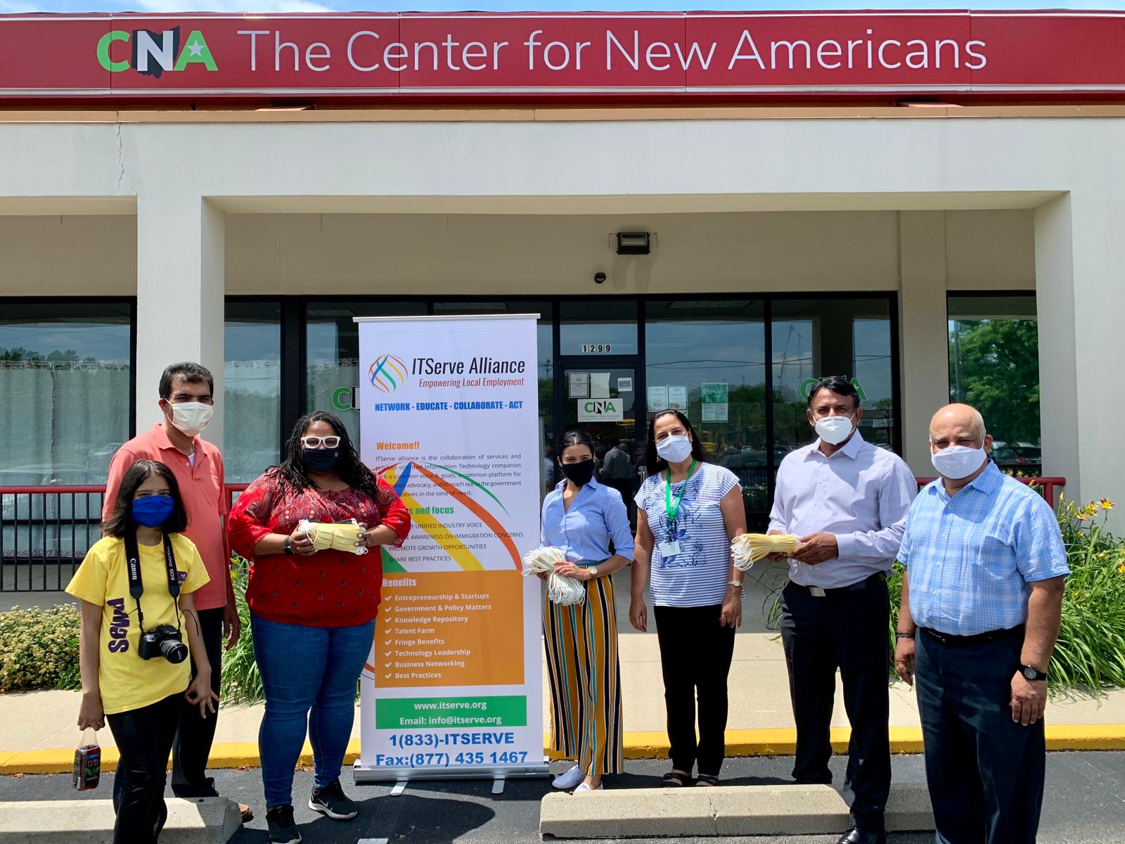 Donated 250 hand sewed reusable masks to The Center for New Americans!