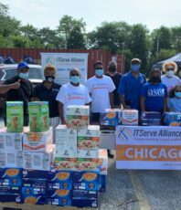 ITSERVE Chicago CSR had it's 5th food drive today at Chicago, IL