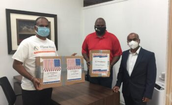 Donated 500 KN95 Masks to Health care professionals in Illinois 17th Legislative District (Chicago area) on July 29, 2020