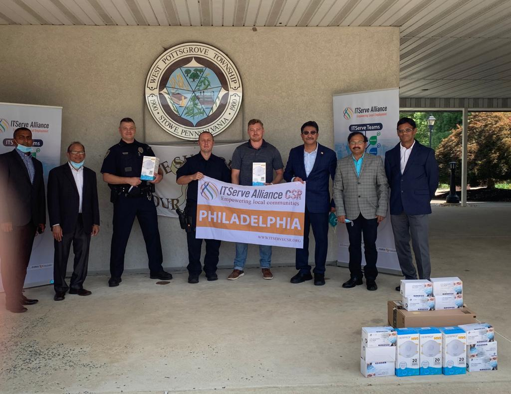 Donated 95 and Surgical masks to West Pottsgrove Township's first responders.