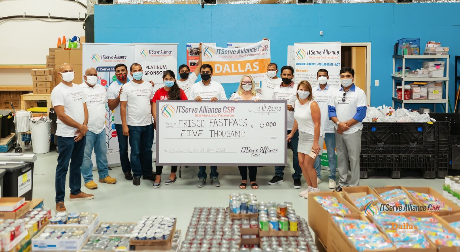 Donated $5,000 to Frisco Fastpacs to feed hungry school-going children