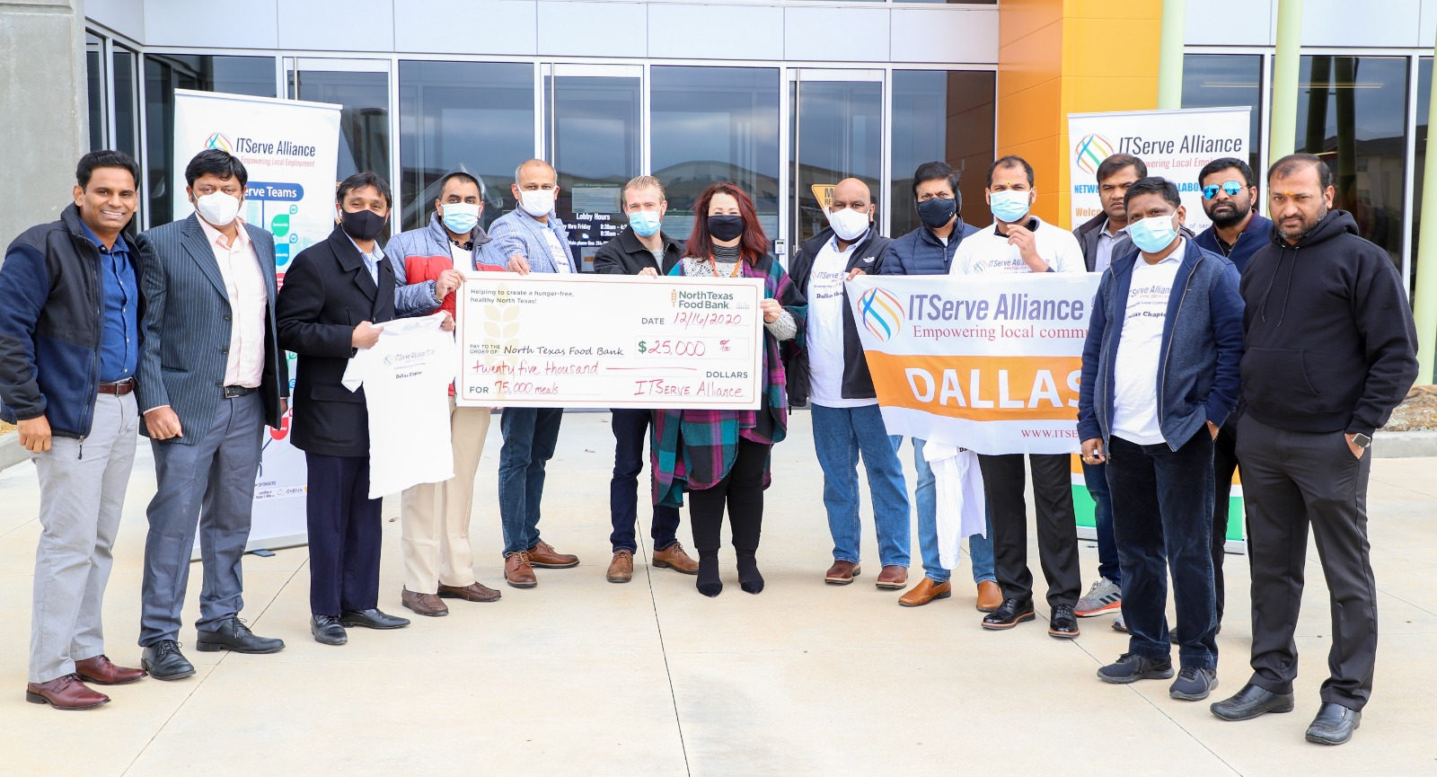 Donated $45,708 to the North Texas Food Bank in the pandemic year of 2020