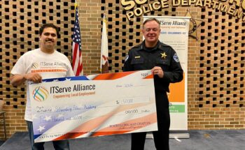 Conducting 1st CSR event this year by honoring Schaumburg Police Chief