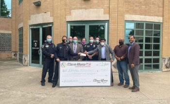 Appreciation of check $1500 to Irving Police Department