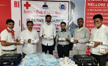 ITServe Alliance Donated Ventilators along with other medical supplies to Hospital in Nellore, A.P through Indian Red Cross