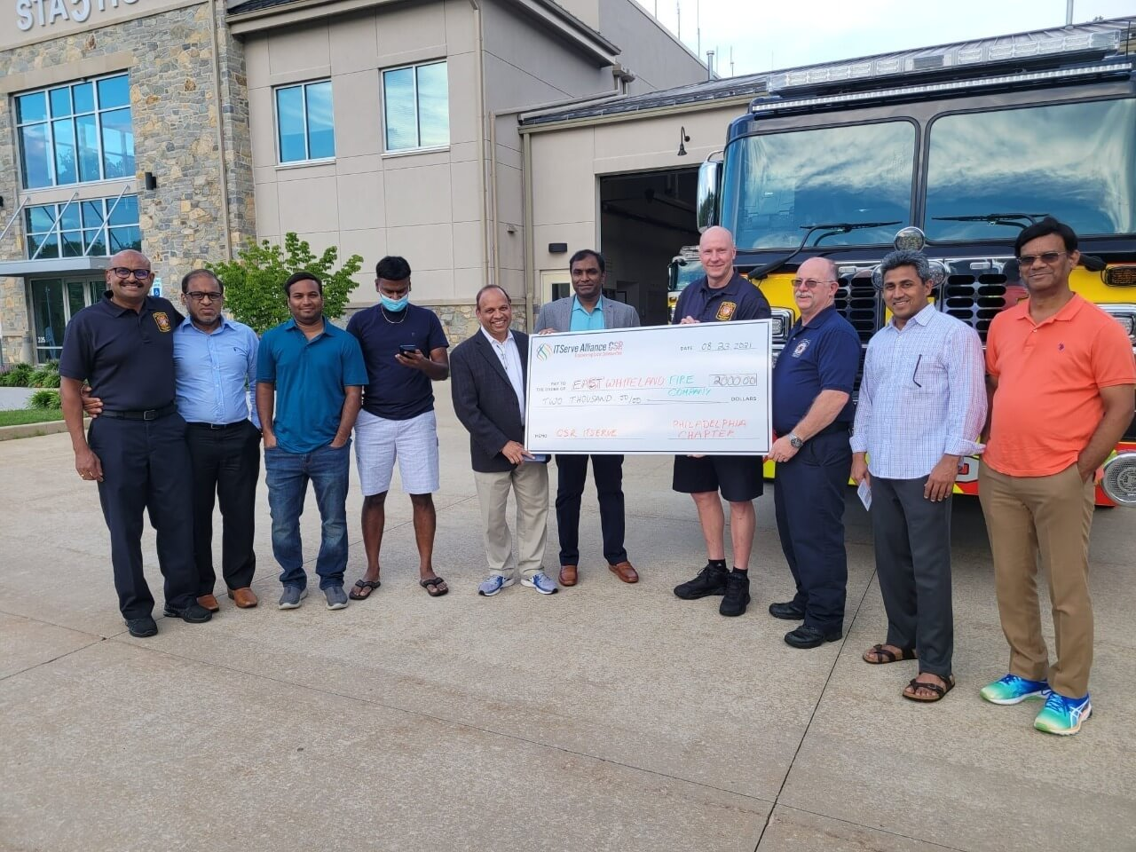 Team Philadelphia Donated $2000 to East Whiteland Fire Company as part of Q3 CSR Activity