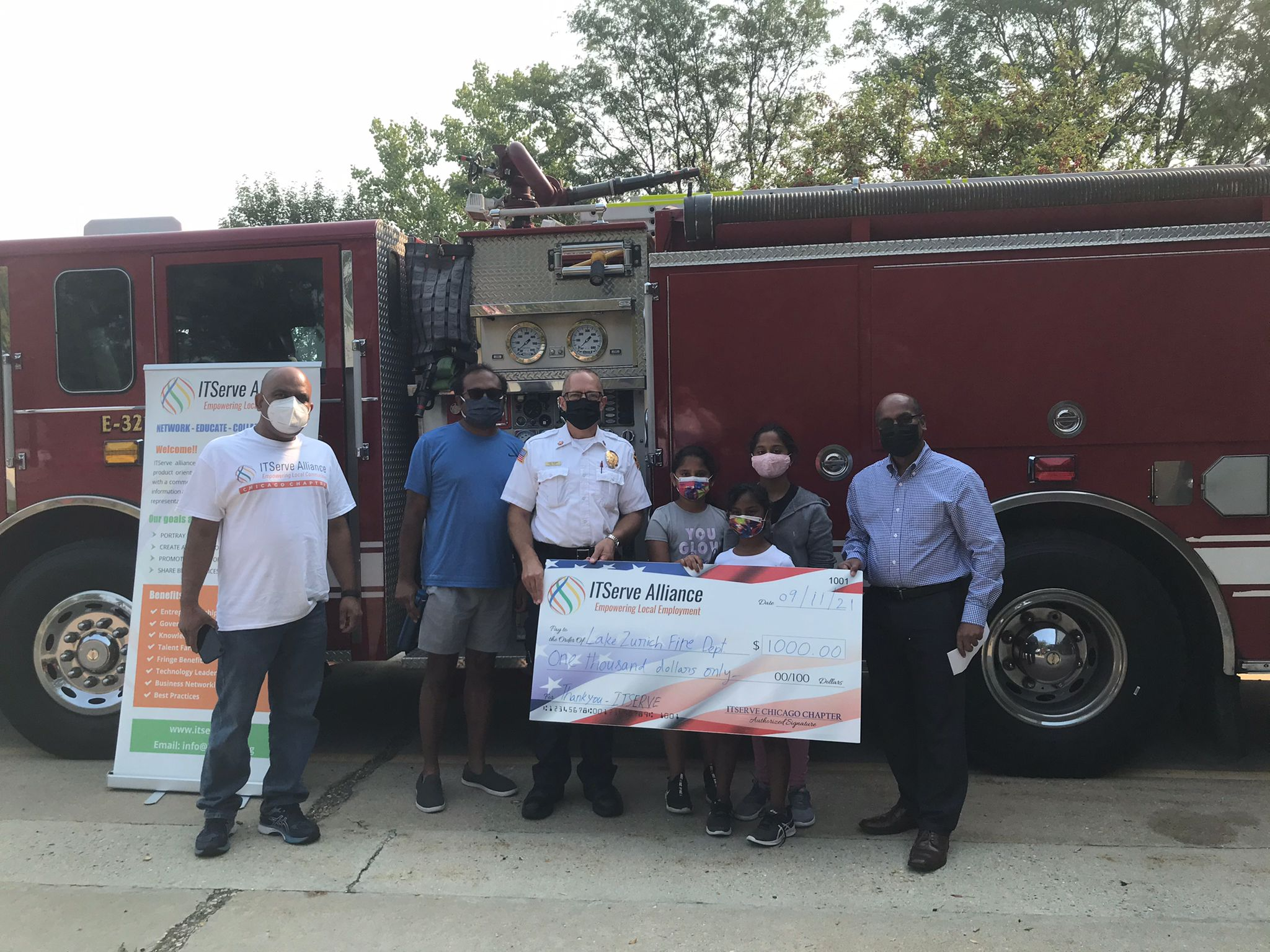 Team Chicago Donated $1000 to Lake Zurich Fire Department